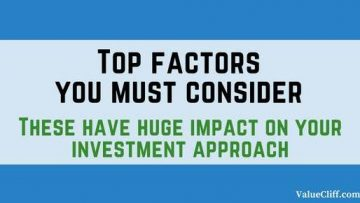 Top factors you must consider in developing an investment approach.